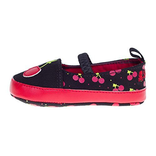 Sourpuss Rockabilly Cherry/cerezo Mary Jane Pisos Zapatos de bebé 0 –