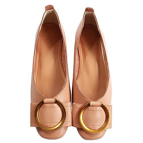 cómodos Zapatos C Mujer FLYRCX de Solo Oficina Zapatos de Moda Zapatos Trabajo Baja Boca Embarazada de Zapatos Casual de Planos Mujer q8SRY8