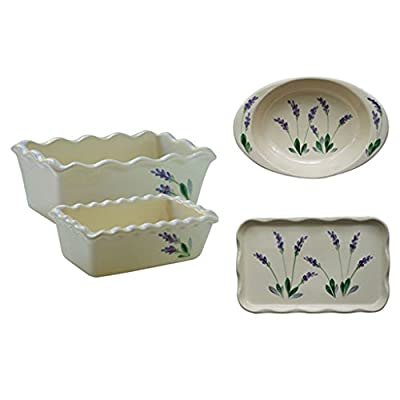 Arousing Appetites Handpainted Lavender Ceramic Cookware from Arousing Appetites