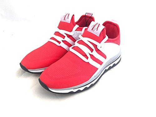ARMANI 37 Red White EXCHANGE Poppy Sneaker rFBwvqr