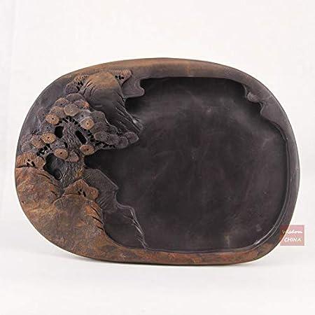 Chinese Inkstone Natural Stone Inkslab Yan Tai Fish Shape
