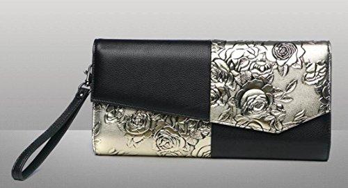 Womens Clutch Luxury Bag Vintage capacity Rose Shoulder Bag Large ChampagneGold Elegant Bag Messenger RqwRBrx1