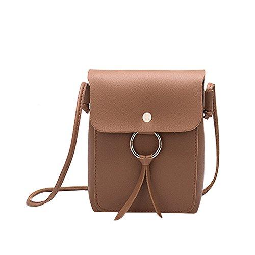 Flecos Bolsa Liso 13 x Bolso 17 Hombro Bandolera para 13 de Cuadrado 17cm 5 5 6 Milnut Mujer x 6 cm Paquete Marrón marrón Color 8Wzna7dxT