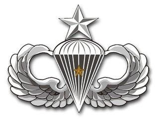 US Army Senior 1 Combat Jump Wings Decal Sticker (1 Combat Jump Wings)