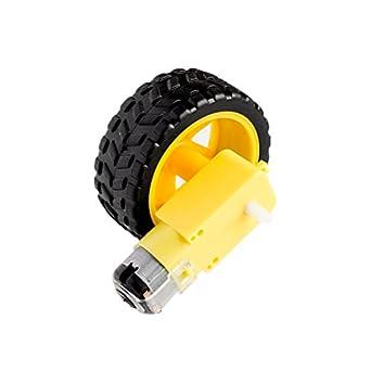 LIGHTHINKING Best Prices - Motor de desaceleración DC + ruedas de apoyo, chasis de coche