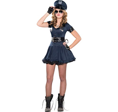 AMSCAN Locked N Loaded Cop Halloween Costume for Teen Girls, Adult Medium with Included Accessories ()