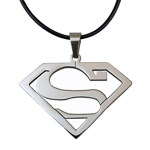 (Stainless Steel Superhero Superman Pendant Necklace)