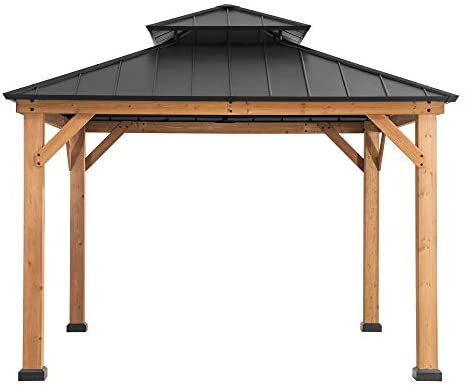 Sunjoy Bridgeport 10 x 10 ft. Cedar Framed Gazebo