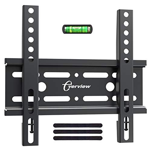 EVERVIEW Fixed TV Wall Mount Bracket for 17-42 Inch LED LCD OLED Plasma Flat Screen TVs – Ultra Slim TV Mount Saves Space, Max VESA 200x200mm – Low Profile Fix Wall Mount Holds up to 33lbs