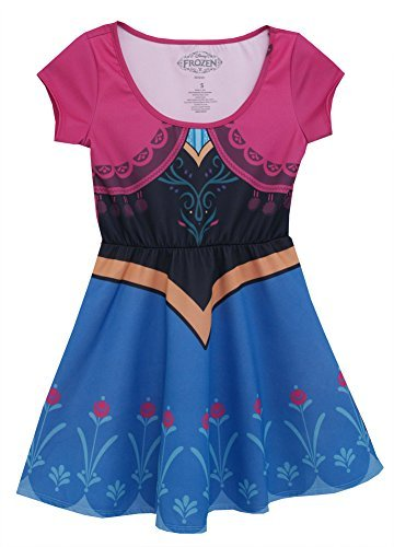 Frozen I Am Anna Disney Movie Mighty Fine Girls Juniors Costume Skater Dress by Animewild