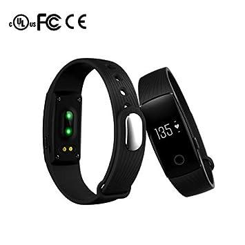 Bluetooth Pulsera Inteligente Fitness contador de pasos,registro de calidad del sueño,Recordatorio sedentario,Función Alarma,Visualización de la hora reloj ...