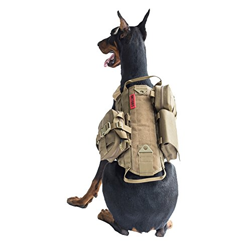 Onetigris Tactical Dog Training Molle Vest Harness