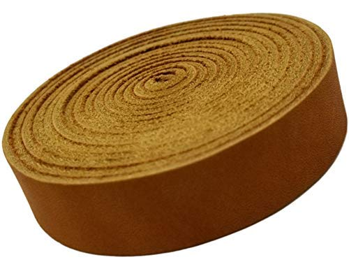 Leather Strap Golden Tan ¾ Inch Wide 72 Inches Long by -