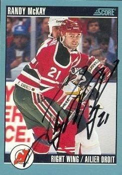 0d43117f9 Randy McKay autographed Hockey Card (New Jersey Devils) 1992 Score Silver   339 -