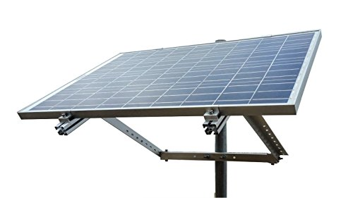 WindyNation Side of Pole Solar Panel Mount Rack + WindyNation 100 Watt 12 Volt Solar Panel by WindyNation