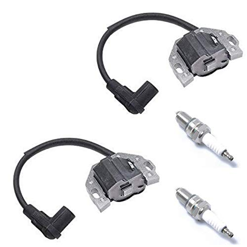 DEF Ignition Coil with Spark Plug Replace 21171-0743 21171-0711 21171-7047 21171-0738 21171-7042 21171-7041 21171-7052 for Kawasaki FR, FS, FX Series Engines, Set of 2