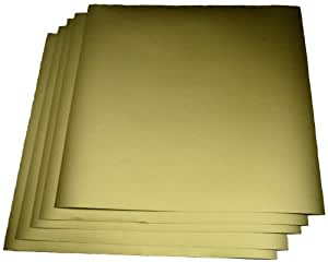 "Expressions Vinyl - GoldMetallic (glossy) 5-pack of adhesive vinyl sheets - 12""x12"" outdoor/permanent"