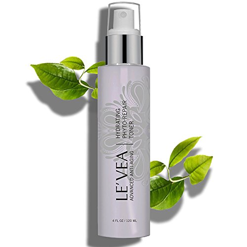 LE'VEA Phyto Repair Anti-Aging Hydrating Toner All Natural Professional Formula for Dry Skin Oily Acne Skin Aging Dry Skin Heals and Repairs Problem Skin face toner Vitamin C Green tea - 4 fl oz