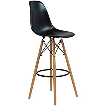 charles eames style dsw counter stool in black home kitchen. Black Bedroom Furniture Sets. Home Design Ideas