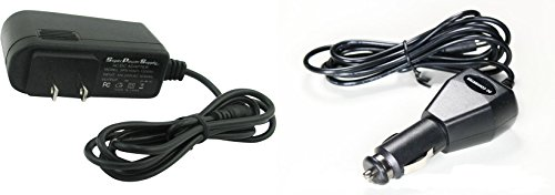 Super Power Supply AC / DC Adapter Cord 2 in 1 Combo Wall + Car Charger for VISUAL LAND CONNECT 9 VL-109, PRESTIGE 10 ME-110, PRESTIGE PRO 10D / Agptek TP714AQ / AMPE A65, A79 / Apex AP-EM63 Tablet PC Tab MicroUSB Micro USB Plug by Super Power Supply®