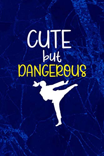 Cute But Dangerous: Blank Lined NoteboBlank Lined Notebook ( Karate )ok ( Universe ) Blue