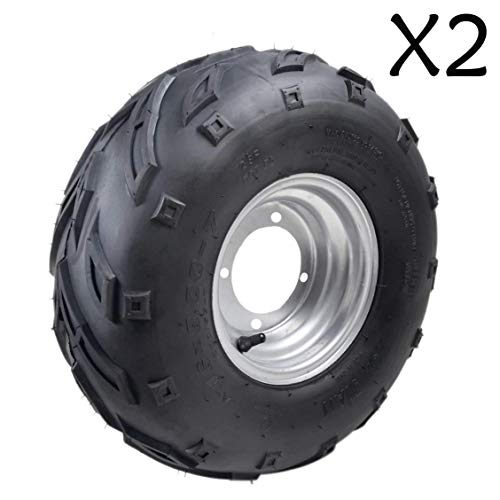 """JCMOTO Pack of Two 16x8-7"""" inch Front Wheel Rim Knobby, used for sale  Delivered anywhere in USA"""