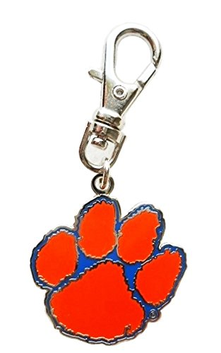CLEMSON UNIVERSITY TIGERS PAW CHARM PET COLLAR DOG TAG PURSE JACKET BACKPACK FAN ZIPPER PULL KEYCHAIN
