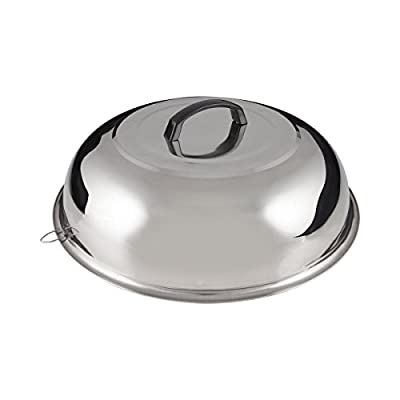 """FortheChef's 13-3/4"""" Stainless Steel Wok Cover (Fits 14"""" Diameter Woks)"""