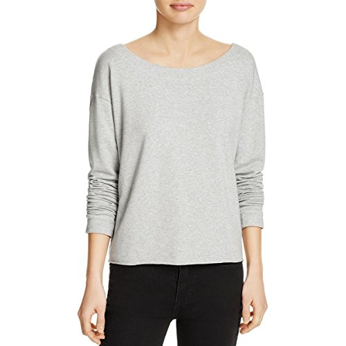 Splendid Women's Varsity Active Lace Back Sweatshirt, Heather Grey, Large