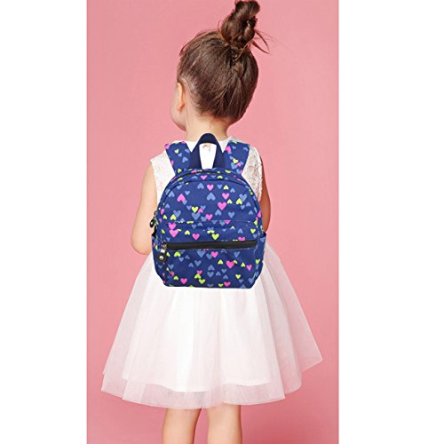L.S.Risunup Niedlich Rucksack für Kinder Mädchen Nursery Kita Kleinkind Schulrucksäcke 004 Lila Blau hum08D
