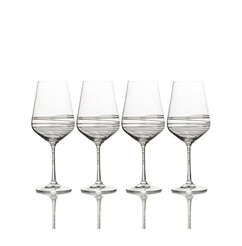 (Mikasa Electric Boulevard Platinum Water Goblet, 20-Ounce, Set of 4)
