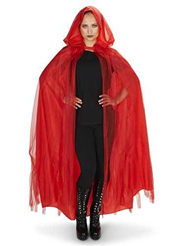 ers Hooded Lined Red Mesh Adult Cape One Size ()