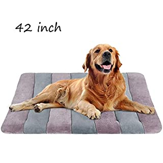 """JoicyCo Dog Bed Large Crate Bed Mat 42"""" Pet Beds Washable Anti-Slip Bottom Cat Beds Mattress Kennel Pad"""