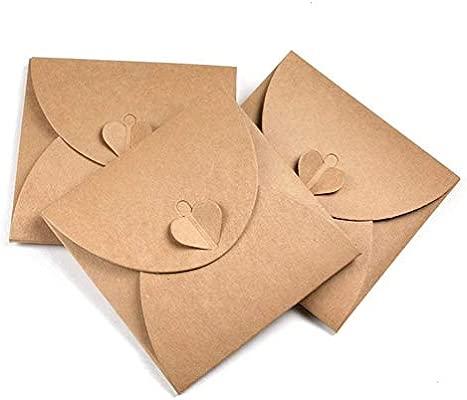 Tocone 30 Pack Retro Amor CD/DVD Papel Kraft Soporte de Envelope Sobres de Papel Cases Bolsas de Embalaje 13 x 13cm