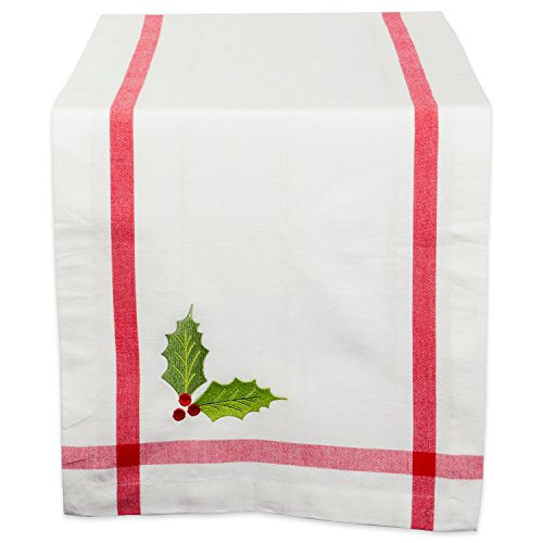 DII 100% Cotton, Machine Washable, Table Runner For Dinner Parties, Christmas and Holidays - 14x72