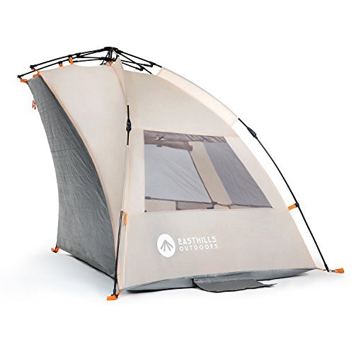 Easthills Outdoors Instant Shader Extended Easy Up Beach Tent Sun Shelter - Extended Zippered Porch Included