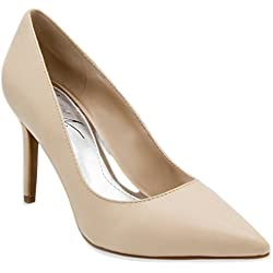 Mari A Women's Felicia Stiletto Heel Pointed Toe Pump Dress Shoe Sandal 10 Taupe