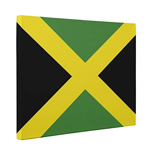 Jamaican Gift Framed /& Ready To Hang Jamaican Wall Decor Jamaica Flag Print Jamaica Flag Print Jamaica Wall Art Flag of Jamaica Canvas