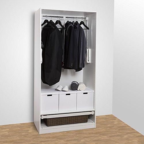 SO-TECH® Kleiderlift Kleiderschranklift breitenanpassbar von 450 - 1150 mm schwarz
