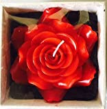 Handmade Red Rose Floating Candle 3.75''x3.75''x2.5''