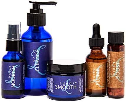 Linda Parelli Ultimate Skincare Kit containing Cleanse, Nourish, Smooth, Plump, Boost & Mouselline Sponge (Retail Value $271.50)