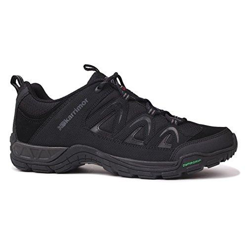 Karrimor Hombres Summit Lace Up Zapatos Transpirables Senderismo Al Aire Libre Trekking Senderismo Negro