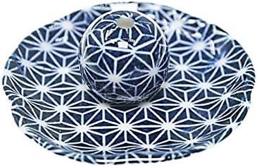 青色麻葉 花形 香皿 お香立て 日本製 ACSWEBSHOPオリジナル