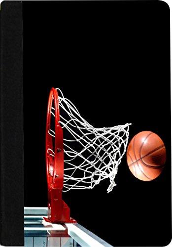 Rikki Knight Basketball in hoop Faux Suede Notebook Binde...