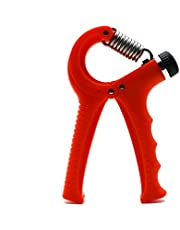 Ultimate Gripmaster Hand Strengthener, Fitness Equipment, Grip Strength Trainer, Workout Gear, Rock Climbing, Adjustable Resistance, Perfect Forearm, Hand Squeezer, and Therapy Hand Gripper - Red