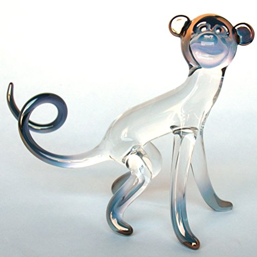 Monkey Figurine of Hand Blown Glass