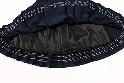 Genetic - Falda - trapecio - Cuadrados - 100 DEN - para mujer Multicolore - Blue mixed white