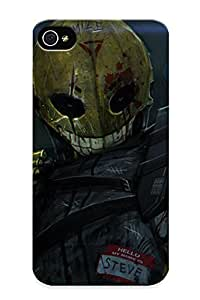 Blackducks GgNZr0ibJfN Protective Case For Iphone 4/4s(dark Horror Mood Angry Death Warrior Mash Evil Weapons Guns Explosion Sci Fi ) - Nice Gift For Lovers