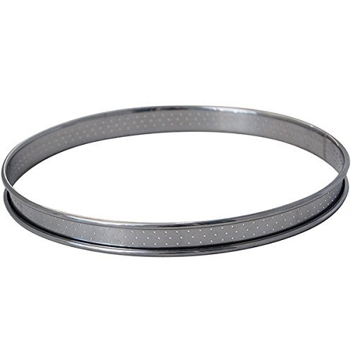 De Buyer Professional Food Service 8 cm Stainless Steel Perforated Circle Tart Baking Ring