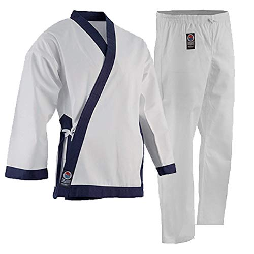 "ProForce 8oz Medium Weight Tang Soo Do Uniform - Blue - Size 1 (4'9"" / 100lbs)"